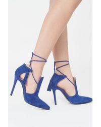 Lavish Alice - Cobalt Blue Suede Pointed Stiletto - Lyst