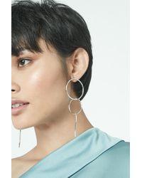 Lavish Alice | Metallic Double Hoop Duster Earrings In Sterling Silver | Lyst