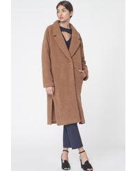 Lavish Alice - Brown Teddy Bear Oversized Boyfriend Coat In Biscuit - Lyst