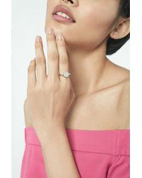 Lavish Alice - Metallic Minimal Signet Ring In Sterling Silver - Lyst