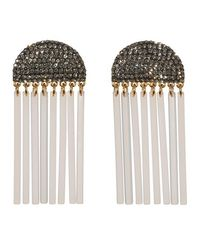 Lele Sadoughi - Multicolor Crystal Comb Earrings - Lyst