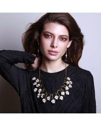 Lele Sadoughi - Multicolor Striped Orchid Necklace - Lyst