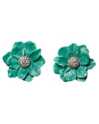 Lele Sadoughi - Green Oversized Gardenia Stud Earrings - Lyst