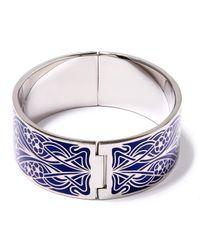 Liberty - Blue Ianthe Enamel Solid Cuff - Lyst