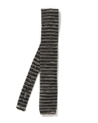 Nick Bronson - Black Melange Stripe Tie for Men - Lyst