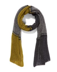 Quinton-chadwick - Gray Waffled Cloud Stripe Scarf - Lyst