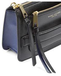 Marc Jacobs - Black Saffiano Leather Madison Crossbody Bag - Lyst