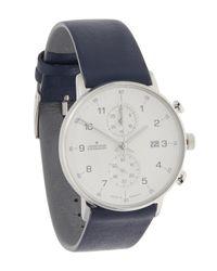 Junghans - Blue Form C Chronograph Watch for Men - Lyst