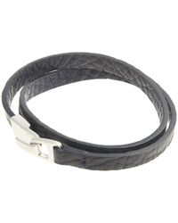Miansai - Blue Small Hook Leather Bracelet for Men - Lyst