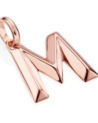 Monica Vinader - Pink Rose Gold-plated Alphabet Pendant A-z - Lyst