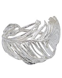 Alex Monroe | Metallic Big Curled Peacock Feather Ring | Lyst