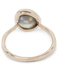 Monica Vinader - Metallic Rose Gold Vermeil Labradorite Siren Stacking Ring - Lyst