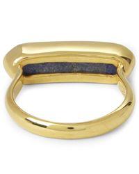 Monica Vinader - Yellow Vermeil Lapis Lazuli Baja Ring - Lyst