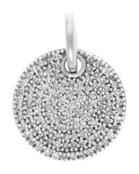Monica Vinader | Metallic Silver Diamond Ava Disc Pendant | Lyst