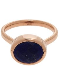 Monica Vinader | Blue Rose Gold-plated Lapis Candy Ring | Lyst