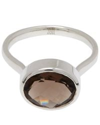 Monica Vinader | Brown Silver Smoky Quartz Candy Ring | Lyst