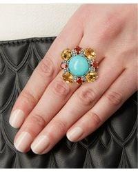 Stephen Dweck - Metallic Sterling Silver Multi-stone Turquoise Citrine Ring - Lyst