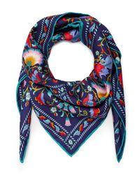 Liberty | Blue Lodden 70x70 Silk Scarf | Lyst