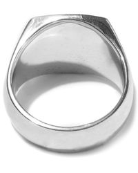 Tom Wood - Silver Green Marble Cushion Ring for Men - Lyst