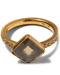 Brooke Gregson - Metallic Diamond Slice Pave Gold Band Ring - Lyst