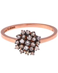 Suzanne Kalan - Pink Rose Gold Champagne Diamond Starburst Ring - Lyst