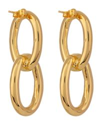 Jennifer Fisher - Gray Small Gold-plated Chain Link Dropstud Earrings - Lyst