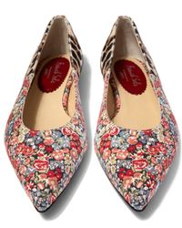 French Sole | Multicolor Penelope Chive Printed Pony Hair Flats | Lyst