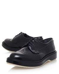 Adieu - Black Punched Wedge Derby Shoes for Men - Lyst
