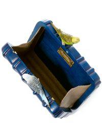 Sarah's Bag - Blue The Dearest Bird Wooden Clutch - Lyst