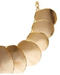 Oscar de la Renta - Metallic Gold-tone Disc Necklace - Lyst