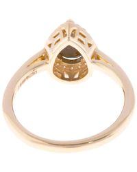 Anna Sheffield - Gold Black Diamond Pear Rosette Ring - Lyst