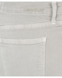 Current/Elliott - Gray Light Grey Stiletto Released Hem Jeans - Lyst