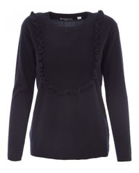 Chinti & Parker - Blue Navy Ruffle Panel Jumper - Lyst