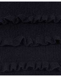 Chinti & Parker - Blue Navy Ruffle Stripe Jumper - Lyst
