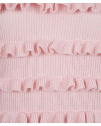 Chinti & Parker - Light Pink Ruffle Stripe Jumper - Lyst