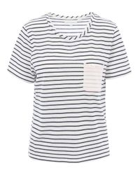Chinti & Parker - Blue Navy Contrast Pocket Stripe Tee - Lyst
