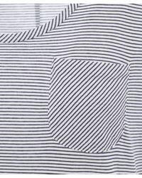 Chinti & Parker - White Fine Stripe Tee - Lyst