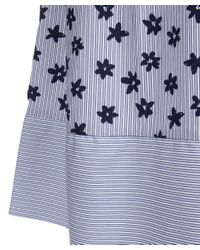 Chinti & Parker - Blue Floral Stripe Smock Midi Skirt - Lyst