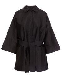 Ganni - Black Kimono Style Wrap Jacket - Lyst