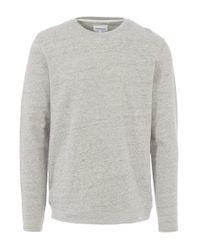 Norse Projects - Gray Ecru Halfdan Overdyed Sweatshirt for Men - Lyst