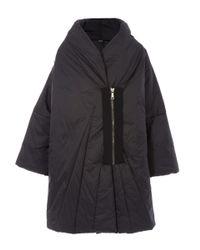 Crea Concept - Black Long Sleeved Oversized Puffa Coat - Lyst