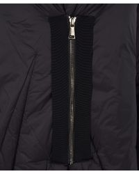 Crea Concept - Black Long Sleeved Oversized Puffa Coat - Lyst