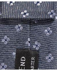 Simon Carter - Blue Ditsy Flower Patterned Tie for Men - Lyst