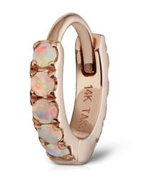 Maria Tash - Multicolor Small Rose Gold Opal Eternity Ring - Lyst