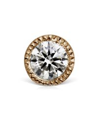 Maria Tash | Metallic Gold 2.5mm Scalloped Set Diamond Threaded Stud | Lyst