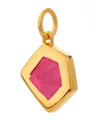 Monica Vinader - Gold-plated Petra Pink Quartz Pendant - Lyst