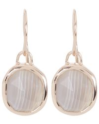 Monica Vinader - Metallic Rose Gold-plated Grey Agate Siren Wire Earrings - Lyst