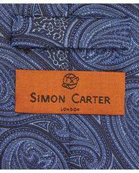 Simon Carter - Blue Paisley Park Print Tie for Men - Lyst