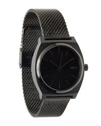 Nixon - Black Time Teller Milanese Watch - Lyst