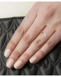 Kismet by Milka - Metallic Rose Gold Single Eclectic Star Small White Diamond Ring - Lyst
